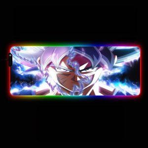 Dragon Ball Design - Goku Ultra Instinct - RGB Mouse Pad 350x250x3mm Official Anime Mousepad Merch