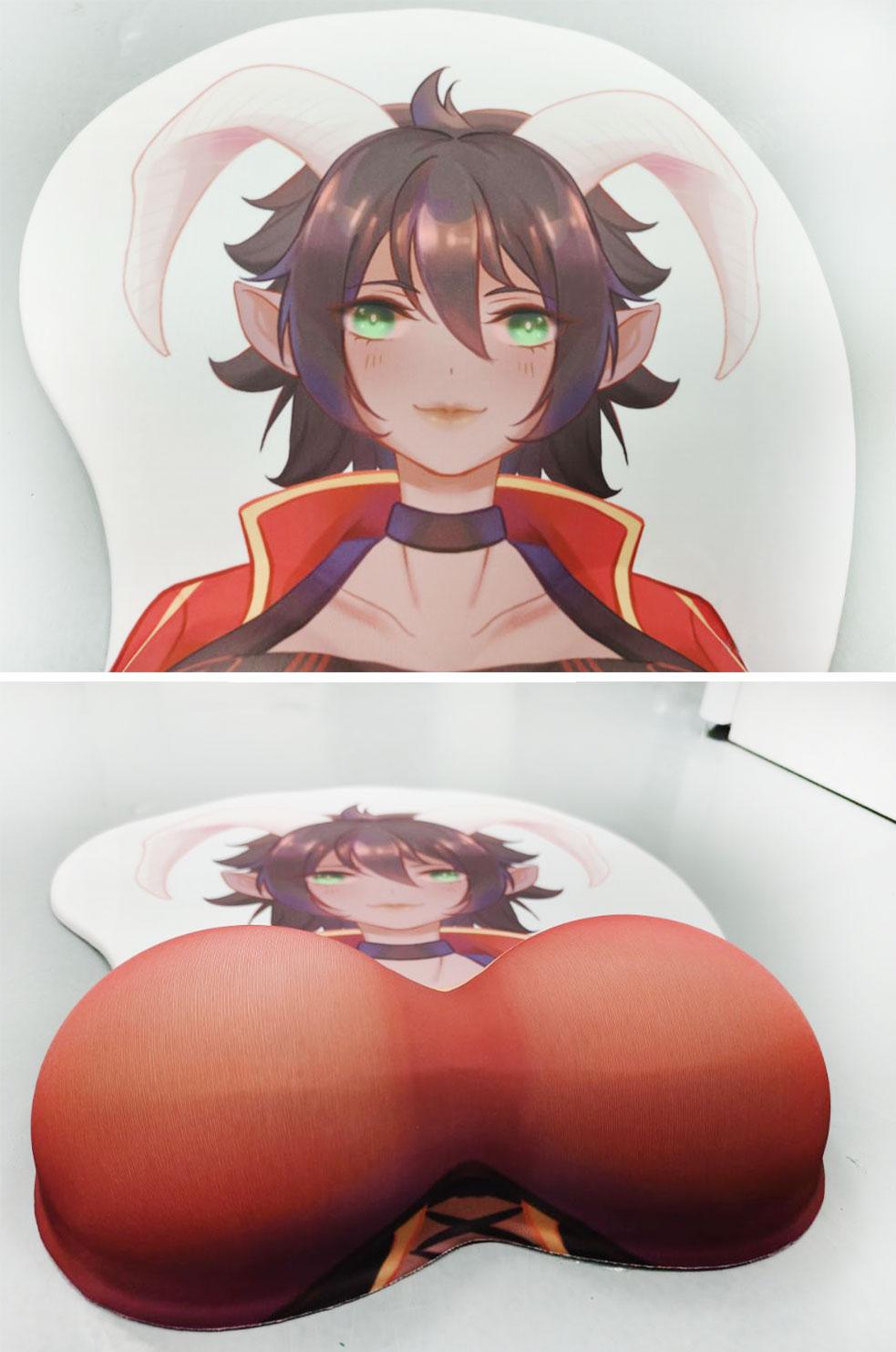 kda ahri life size oppai mousepad 2768 - Anime Mousepads