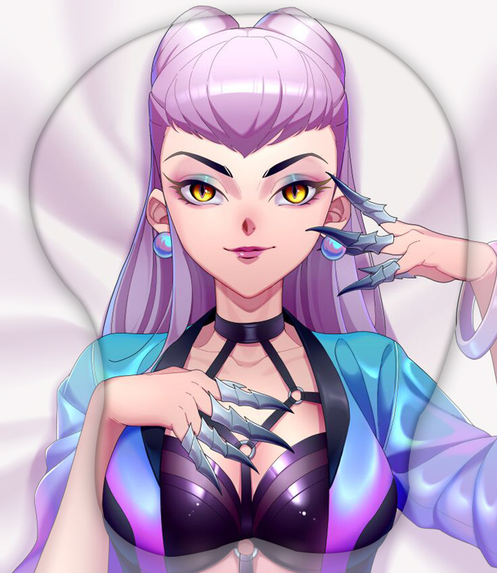 kda all out evelynn 3d oppai mouse pad 8252 - Anime Mousepads