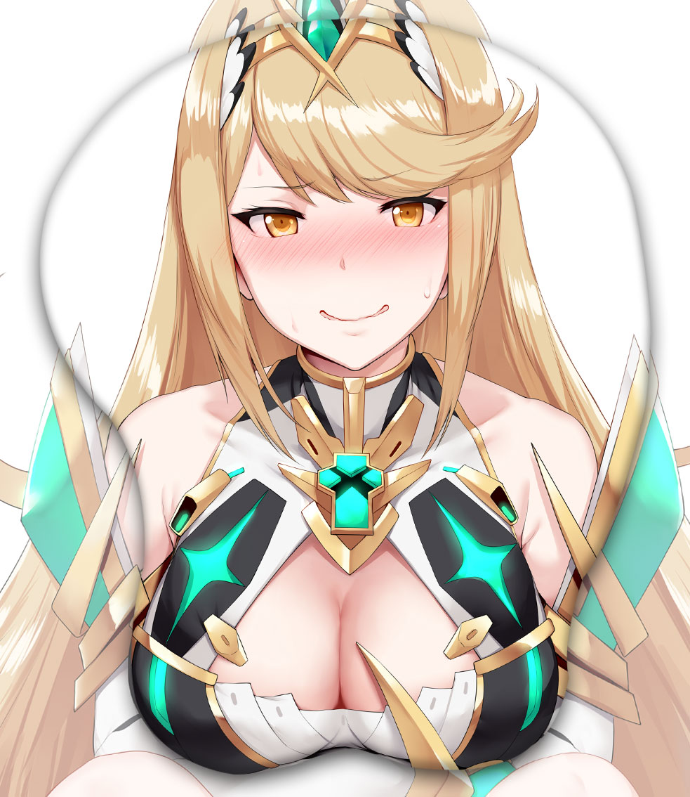 mythra 3d oppai mouse pad 4674 - Anime Mousepads