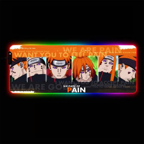 Naruto Designs - Pain - RGB Mouse Pad 350x250x3mm Official Anime Mousepad Merch