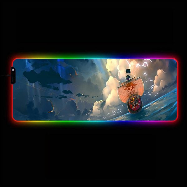 One Piece - Boat - RGB Mouse Pad 350x250x3mm Official Anime Mousepad Merch