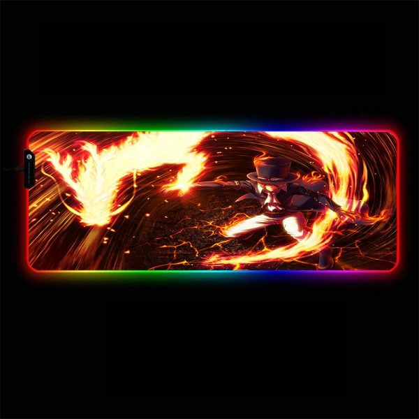 One Piece - Sabo - RGB Mouse Pad 350x250x3mm Official Anime Mousepad Merch