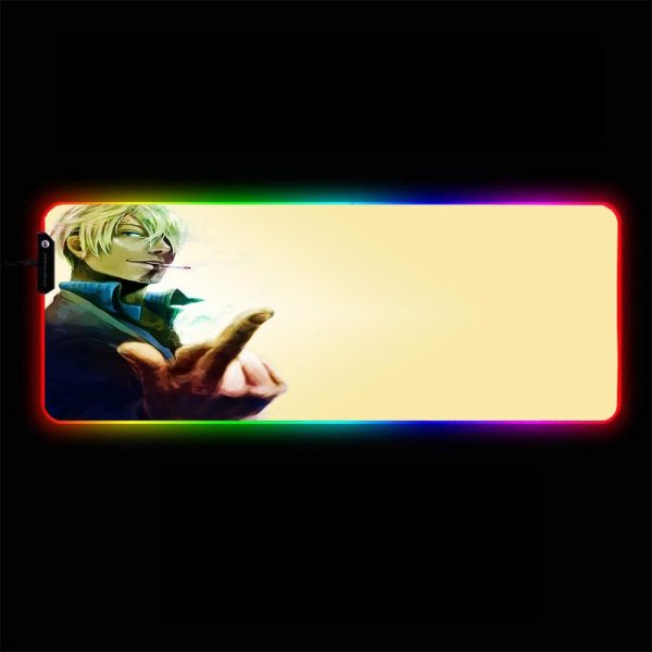 One Piece - Sanji - RGB Mouse Pad 350x250x3mm Official Anime Mousepad Merch