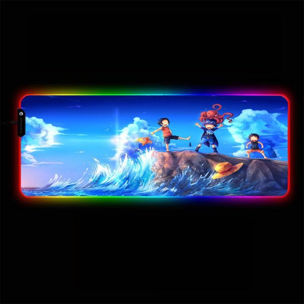 One Piece - Sea - RGB Mouse Pad 350x250x3mm Official Anime Mousepad Merch