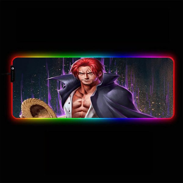 One Piece - Shanks - RGB Mouse Pad 350x250x3mm Official Anime Mousepad Merch