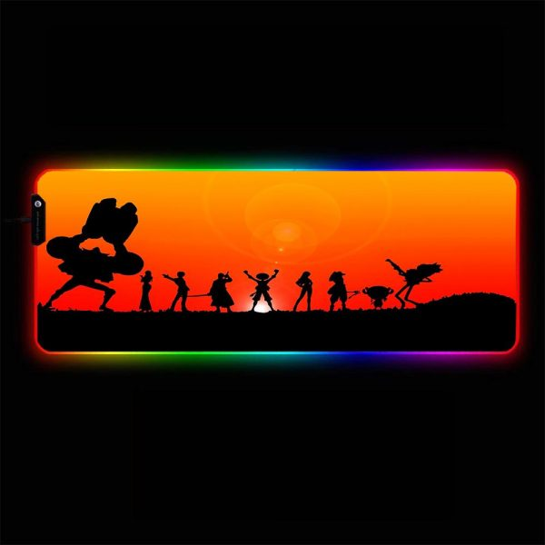 One Piece - Silhouette - RGB Mouse Pad 350x250x3mm Official Anime Mousepad Merch