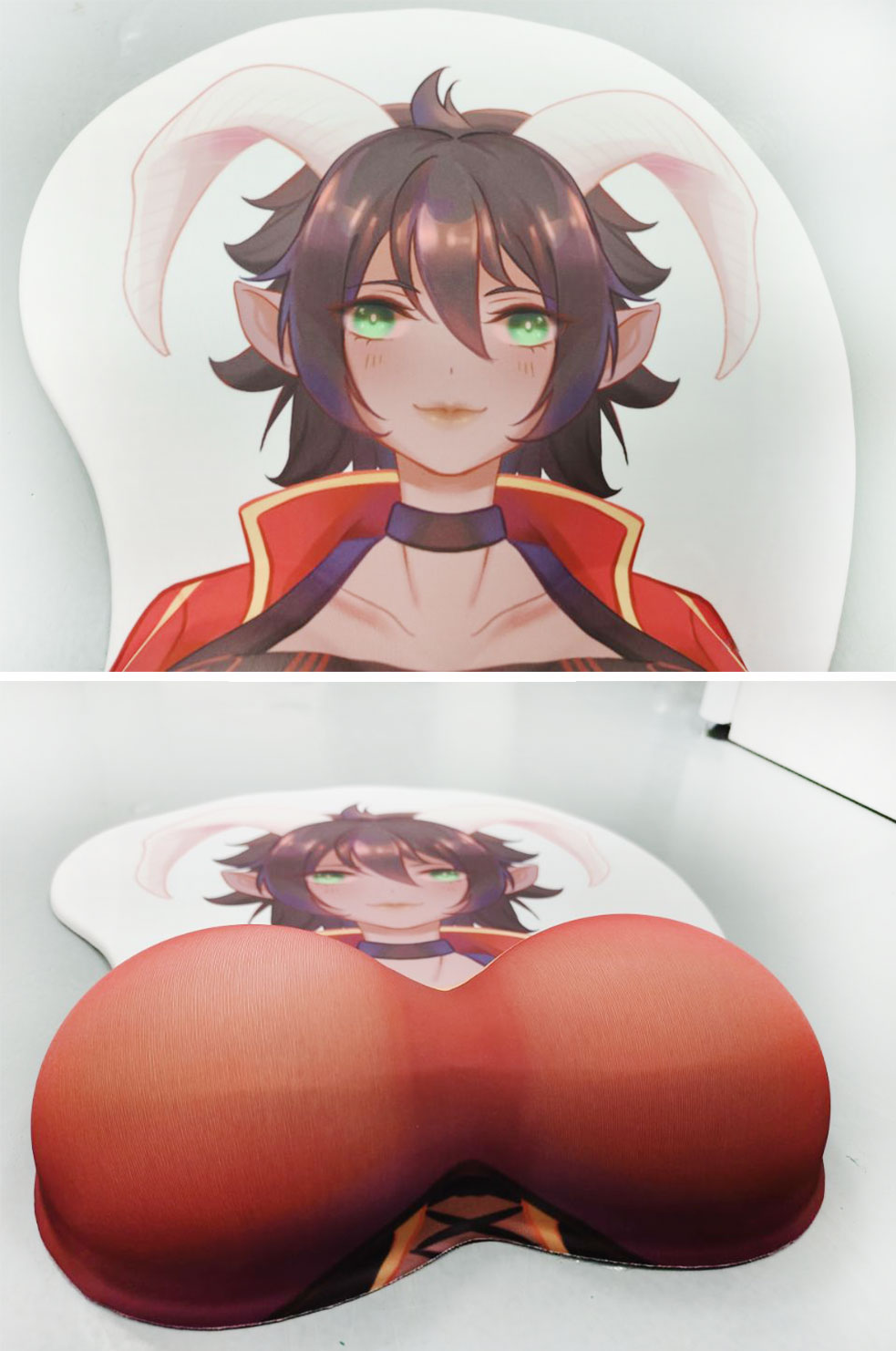 pink double ponytail girl life size oppai mousepad 1555 - Anime Mousepads