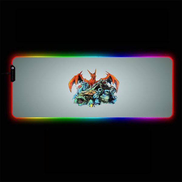Pokemon - 03 - RGB Mouse Pad 350x250x3mm Official Anime Mousepad Merch