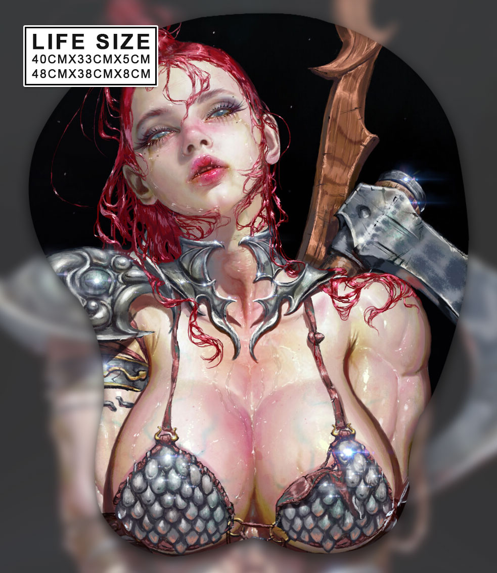 red life size oppai mousepad 6416 - Anime Mousepads