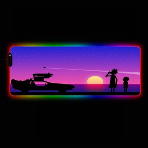 Cartoon Designs - Sunset - RGB Mouse Pad 350x250x3mm Official Anime Mousepad Merch