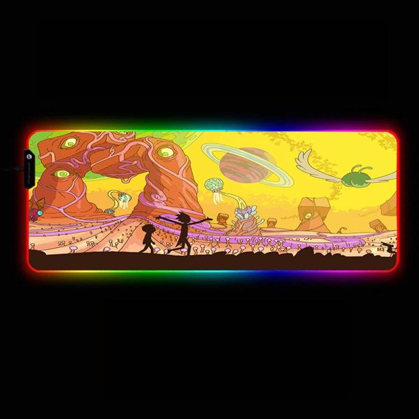 Cartoon Designs - View - RGB Mouse Pad 350x250x3mm Official Anime Mousepad Merch