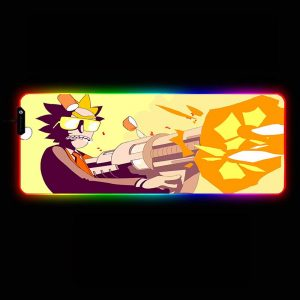 Cartoon Designs - Shoot - RGB Mouse Pad 350x250x3mm Official Anime Mousepad Merch