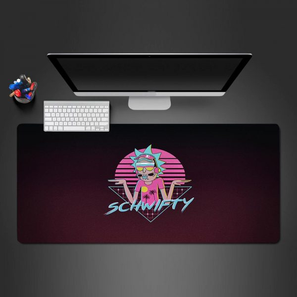 Cartoon Schwifty Gamer Mouse Pad Large Computer Desk Mat XXL PC Gaming Mousepad 350x250x2mm Official Anime Mousepad Merch