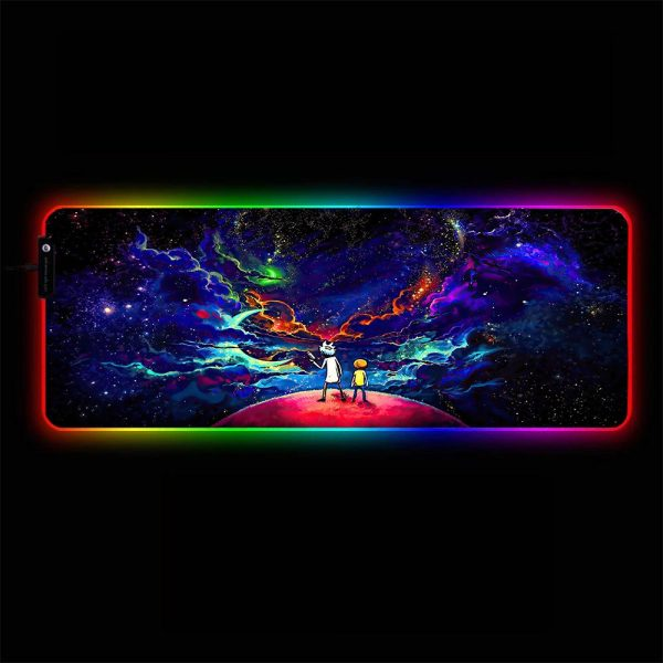 Cartoon Space RGB Gamer Mouse Pad Large Computer Desk Mat XXL PC Gaming Mousepad 350x250x3mm Official Anime Mousepad Merch