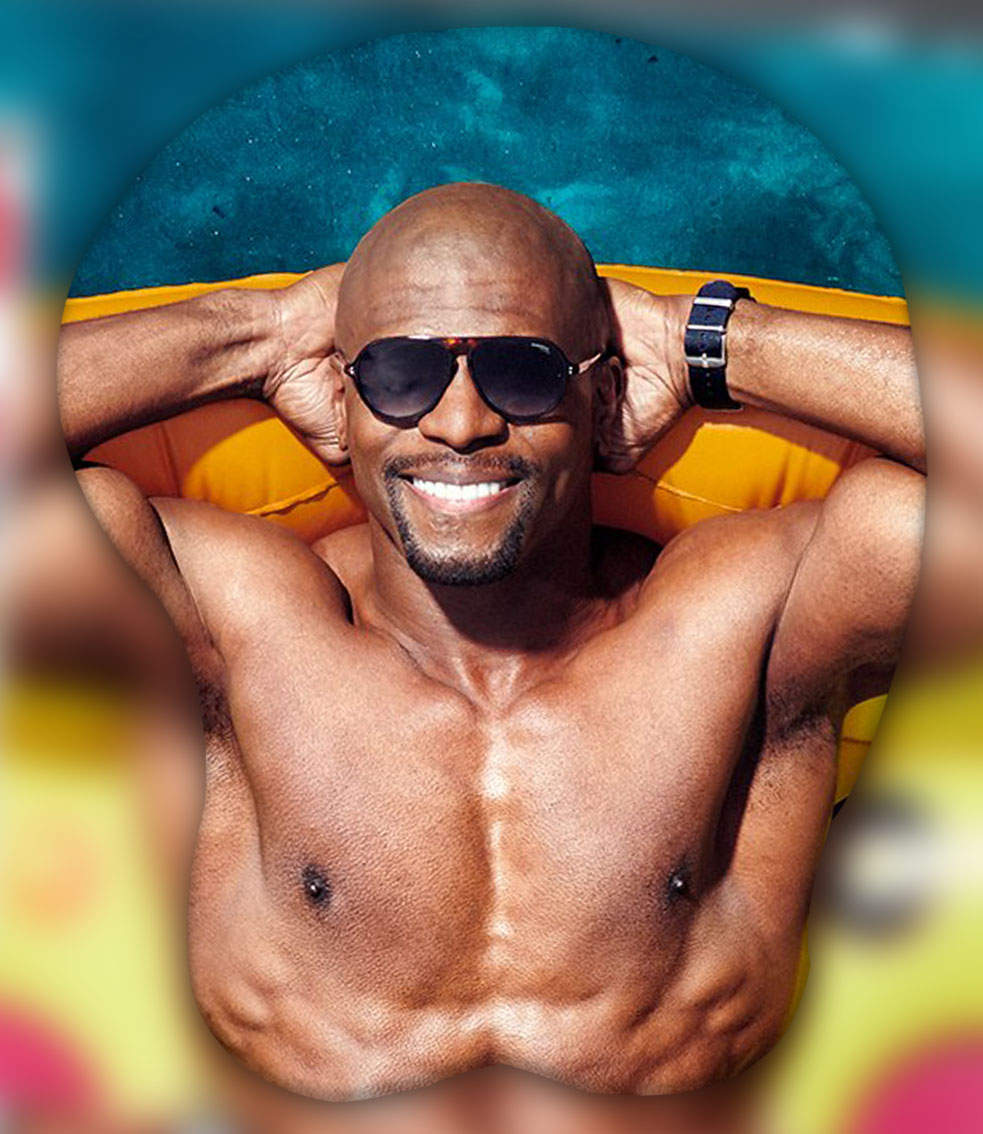 terry crews 3d oppai mouse pad 8967 - Anime Mousepads