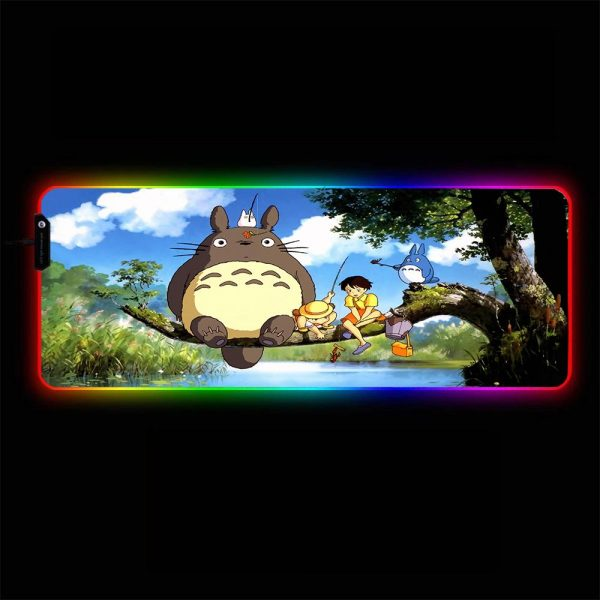 Anime Designs - Totoro - RGB Mouse Pad 350x250x3mm Official Anime Mousepad Merch